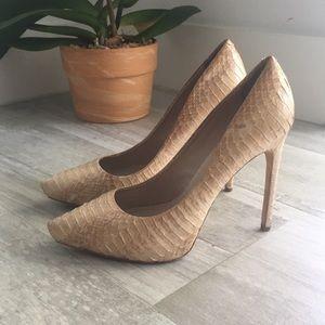 Rachel Roy nude snakeskin pumps